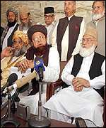 Representatives of religious parties address news conference
