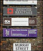 Heritage signs, copyright Aidan O'Rourke
