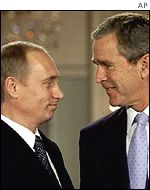 President Putin and President Bush meet at the White House