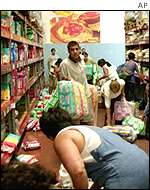 Looting of supermarket in Buenos Aires