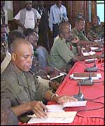 Unita delegation at talks with the Angolan army - March 2002