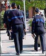 Police on patrol in Evreux