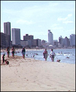 The side of Durban favoured by tourists