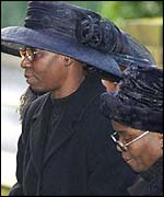 Gloria Taylor (left) at Damilola's funeral