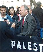 George Galloway at the demonstration