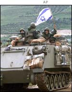 Israeli tanks in the West Bank