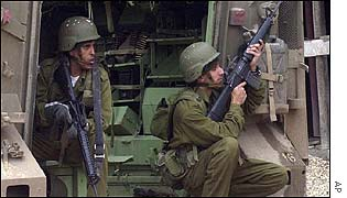Israeli troops in Hebron