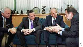 Reunión de la UE con Shimon Peres.