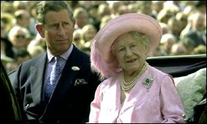 The Queen Mother and the Prince of Wales