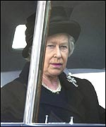 The Queen journeying to Westminster Hall