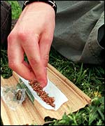 Rolling a cannabis joint