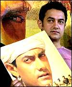 Star Aamir Khan promoting Lagaan