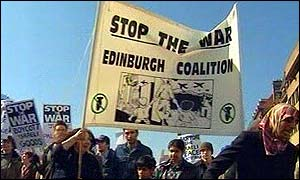 Protest march in Edinburgh