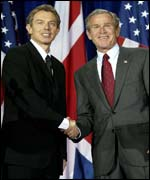 Tony Blair and George Bush in Texas at the weekend