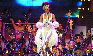 Miss Universe performing a Bollywood version of Moulin Rouge at the IIFA