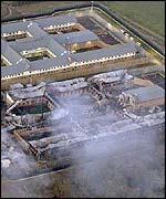 Fire damage at Yarl's Wood detention centre