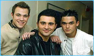 Pop Idol's Will Young, Darius Danesh and Gareth Gates