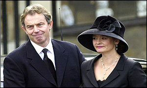 Tony Blair and his wife Cherie Blair