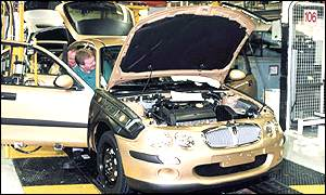 Assembly line at MG Rover