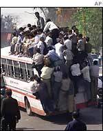 A packed bus