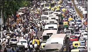 Chaos on Delhi roads