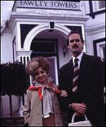 Cleese starred in the hit comedy Fawlty Towers