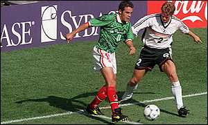 Cuauhtemoc Blanco v Germany at France 98