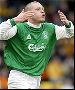 Hibernian striker O'Connor has been in good form lately