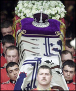 Queen Mother's coffin