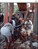 Aftermath of Tiger suicide bomb in 1998