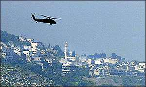 Israeli helicopter hovers above Jenin on Tuesday