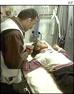 Palestinian Hana Saidachmad was injured during fighting in Dura