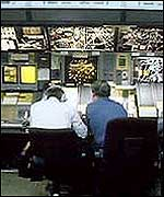 Air traffic controllers at West Drayton
