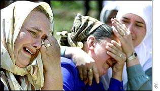 In the village of Potocari, near Srebrenica, on Wednesday, July 11, 2001, six years on