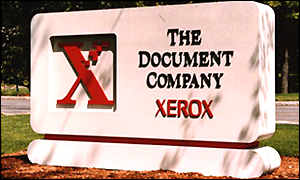 Sign outside Xerox headquarters