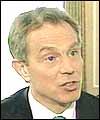 Tony Blair speaking to BBC Political Editor Andrew Marr