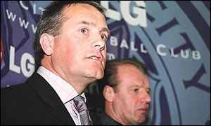 Micky Adams, manager of Leicester with Dave Bassett, director of football