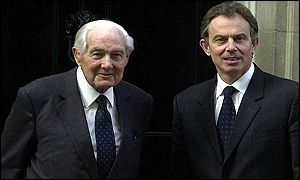 Lord Callaghan and Tony Blair