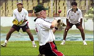 Trevor Chappell during a training session
