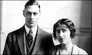 King George VI and then Lady Elizabeth Bowes-Lyon