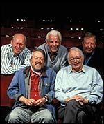 Panellists (From left to right): Grame Garden, Willie Rushton, Barry Cryer, Humphrey Lyttelton and Tim Brooke-Taylor
