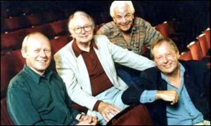 Panellists (left to right): Grame Garden,  Humphrey Lyttelton, Barry Cryer and Tim Brooke-Taylor