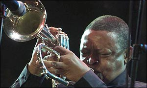 South African jazz musician Hugh Masekela