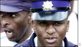South African police officers