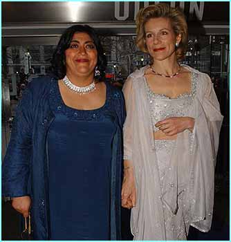 The director of the film, Gurinder Chadha, and one of the older members of the cast Juliet Stevenson