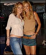 Natasha Hamilton (left) and Jenny Frost