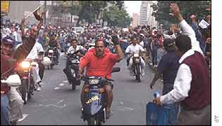 Chavez supporters in Caracas