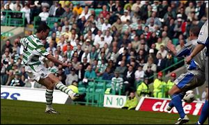 Paul Lambert scores Celtic's second goal