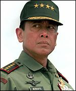 Former military commander General Wiranto