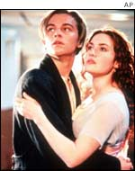 Leonardo DiCaprio and Kate Winslett in Titanic